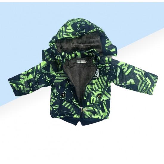 Chlapčenská lyžiarska súprava zeleno-modrá