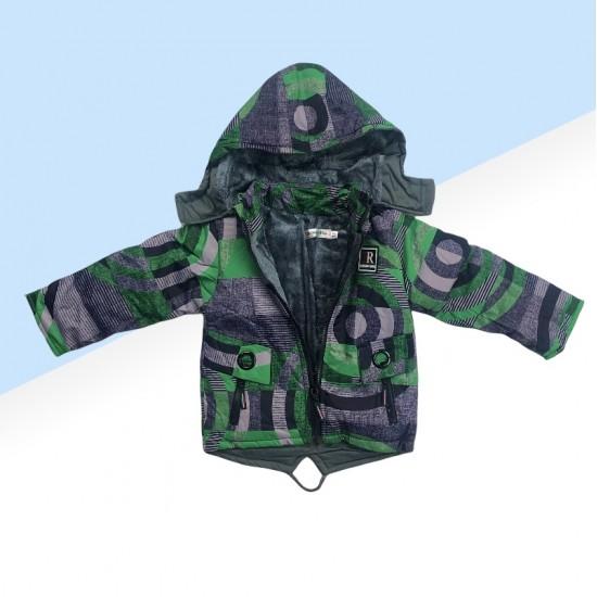Chlapčenská lyžiarska súprava sivo-zelená