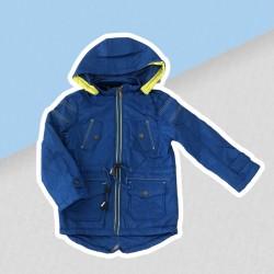 Modrá prechodná bunda chlapec