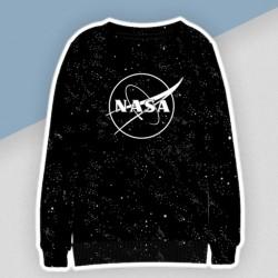 Čierna mikina NASA