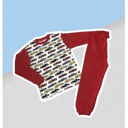 Chlapčenské pyžamo s autami - červené