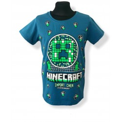 Modré tričko minecraft