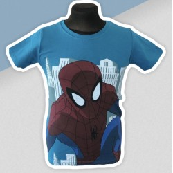 Modré tričko spiderman