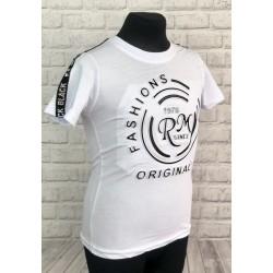 Biele tričko s 3D nápisom