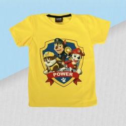 Chlapčenské tričko Paw patrol power - žlté