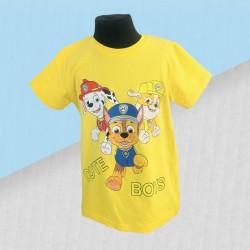 Chlapčenské tričko Paw patrol cute - žlté