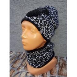Zimný Minnie komplet 3 - čiapka s nákrčníkom