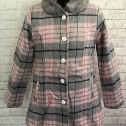 Ružový prechodný kabát