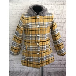 Žltý prechodný kabát