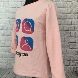 Ružová mikina Instagram