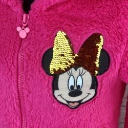 Bordová kožušinová mikina Minnie