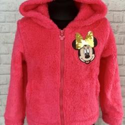 Ružová kožušinová mikina Minnie