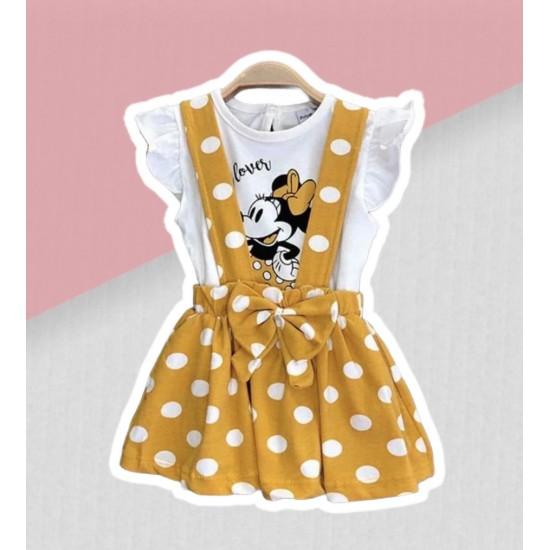 Šatový komplet Minnie - žltý