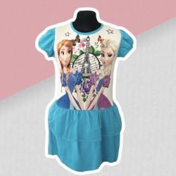 Modré šaty Frozen