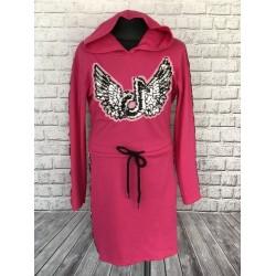 Ružové teplákové šaty tik-tok