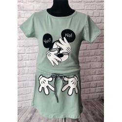 Mentolové šaty Mickey