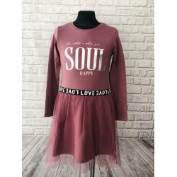 Fialové šaty soul