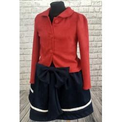 Dievčenský elegantný komplet sako a sukňa
