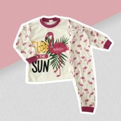 Dievčenské pyžamo ružový plameniak