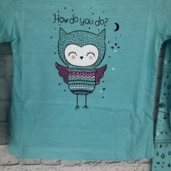 Modré dievčenské pyžamo so sovou