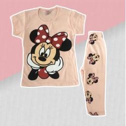Marhuľová súprava Minnie tričko + 3/4legíny