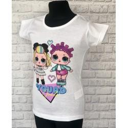 Biele tričko s postavičkami LOL