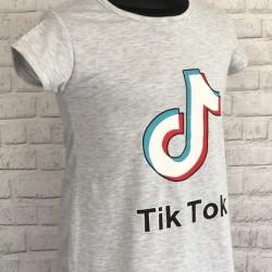 Šedé tričko TIK-TOK