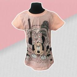 Dievčenské tričko Minnie- marhuľové