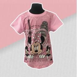 Dievčenské tričko Minnie- ružové